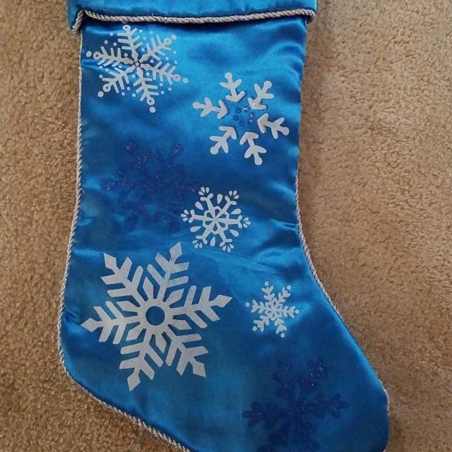 0ec1db12b5356b Best Blue and Silver Snowflake Christmas Stocking for sale in Ladner,  British Columbia for 2019