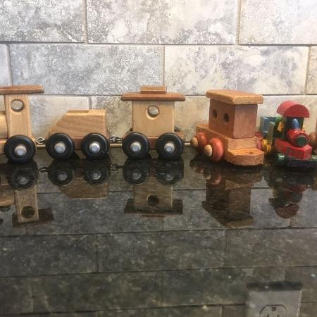 Antique Look Wood Train & extras for sale  Canada