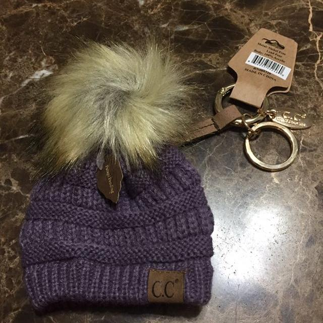abc10c8cb0f Find more C.c Pom Pom Hat Key Chain New With Tags for sale at up to ...