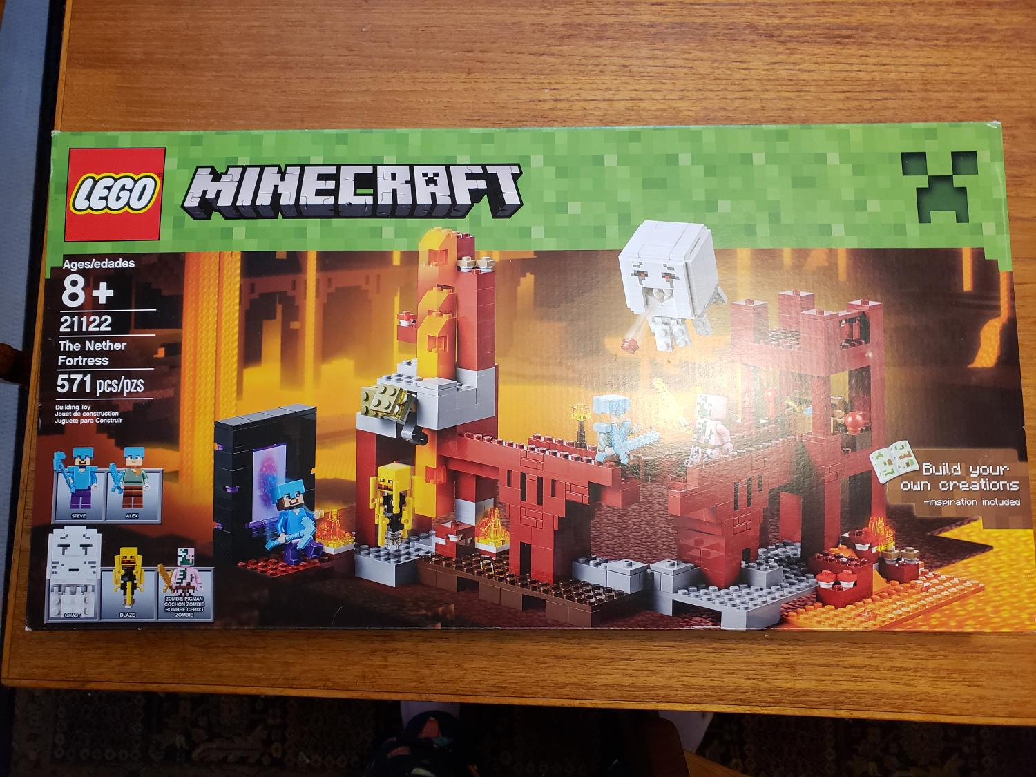 New in sealed Box Lego Minecraft Nether Fortress - retired