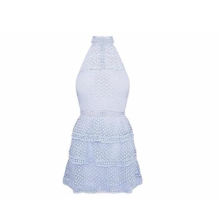 Used, Pretty Little Thing Lace Baby Blue Dress for sale  Canada
