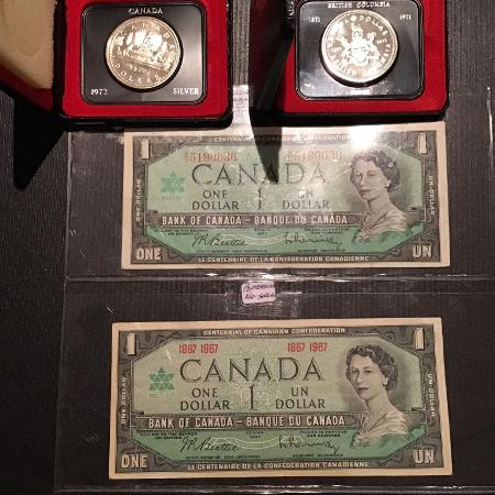 2 silver dollars and 2 Centennial... for sale  Canada