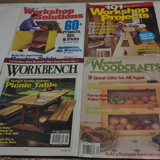 Woodworking Projects 20 Magazines And Books
