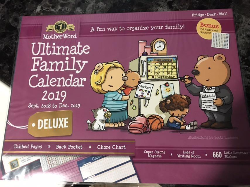 NEW!! Ultimate Family Calendar 2019 DELUXE Edition