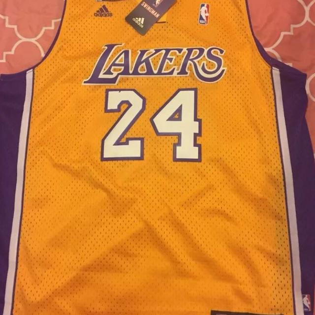new style 0634d 1dbd2 NWT Men's Large NBA Los Angeles Lakers #24 Kobe Bryant Jersey Adidas
