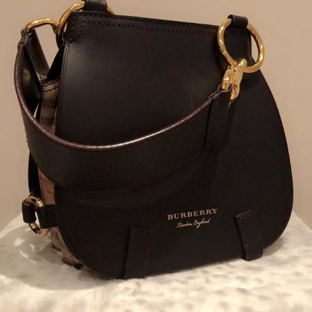 Authentic Burberry Bridle Saddle Bag for sale  Canada
