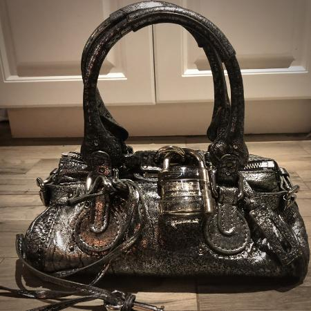 Used, ** CHLOÉ Metallic Silver Paddington... for sale  Canada