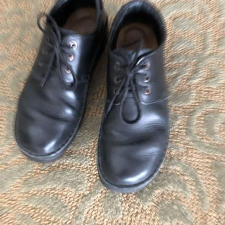 Naot black leather tie up shoes for sale  Canada