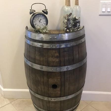 Wine barrel accent table for sale  Canada