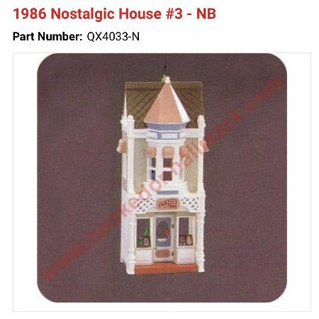 Used, Looking for Hallmark house 1986 ornament for sale  Canada