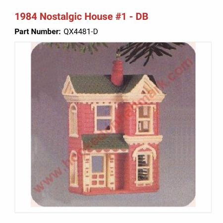 Looking for Hallmark house ornament 1984 for sale  Canada