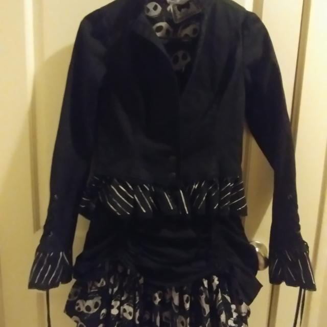 Hot Topic Nightmare Before Christmas Dress.Nightmare Before Christmas Dress With Jacket From Hot Topic Size Small