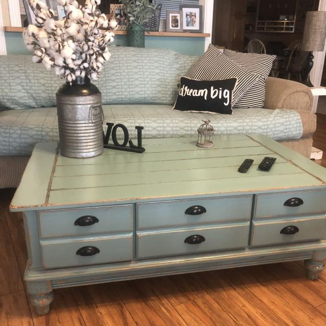 Find More Oversized Farmhouse Chic Storage Coffee Table For Sale