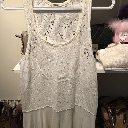 Free People lacy tank top sz s white for sale  Canada