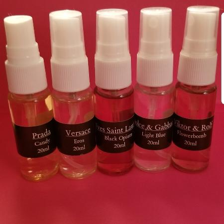 Bundle of 5 brand name perfumes 20ml... for sale  Canada
