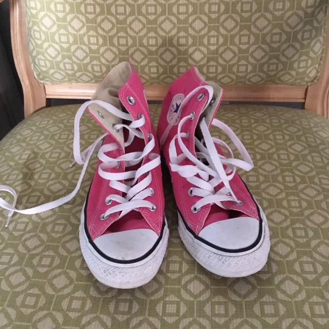 203fb25625c5 Best Pink Converse High Top Sneakers Size 6 for sale in Victoria ...