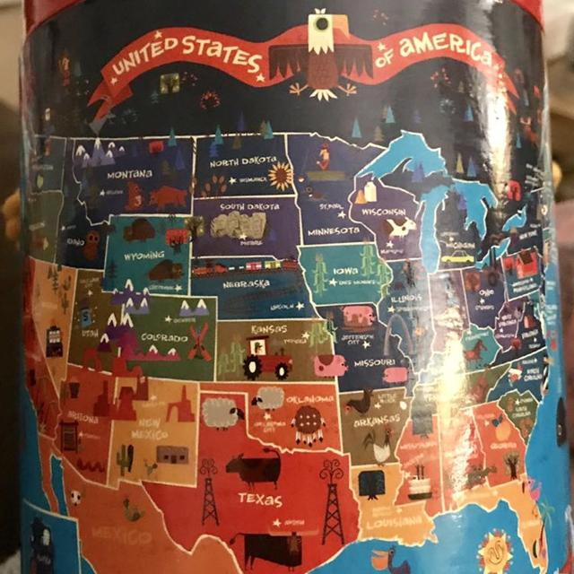 Mudpuppy Brand USA States and Capitals Puzzle  EC  Has All Pieces