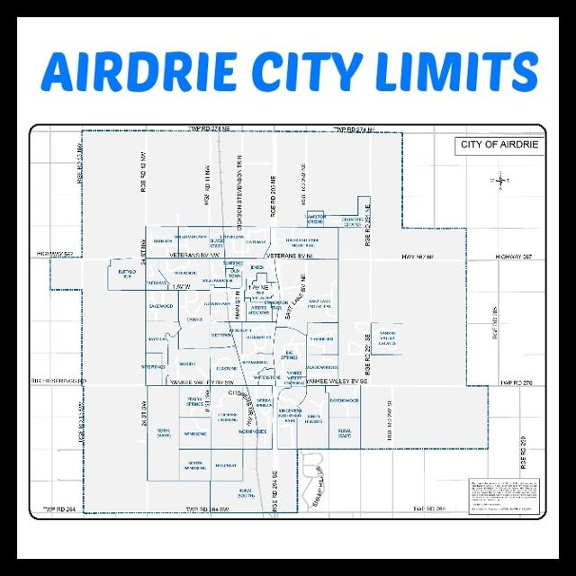 Map Of Airdrie Airdrie City Limits map in Airdrie, Alberta for 2019