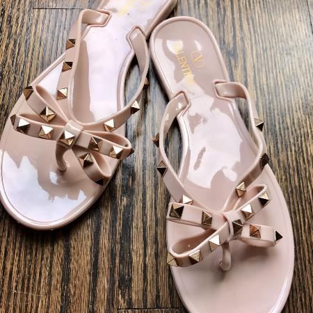 Used, Valentino Rockstud Jelly Thong Sandal for sale  Canada