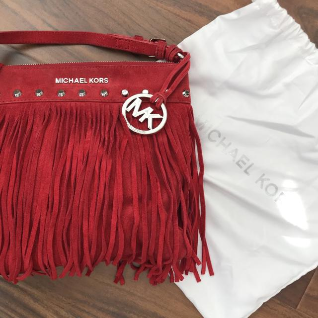 c47fc0e9e409 Best Michael Kors Red Suede Fringed Crossbody Purse! for sale in  Scarborough, Ontario for 2019