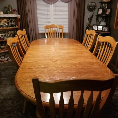 "Table with 6 chairs, 96""× 42"" for sale  Canada"