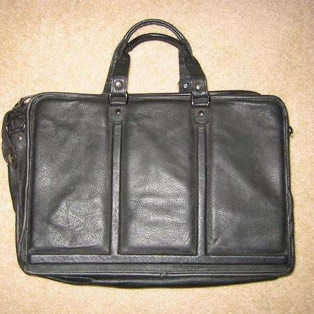 977bd8ad1bcc Professional 100% leather briefcase  fits laptop