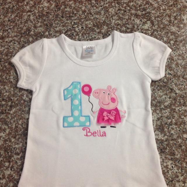 Best Peppa Pig Birthday Shirt Age 1 Year Old