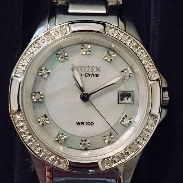 Furloughed Sale Women S Citizen Eco Drive Watch Mother Of Pearl