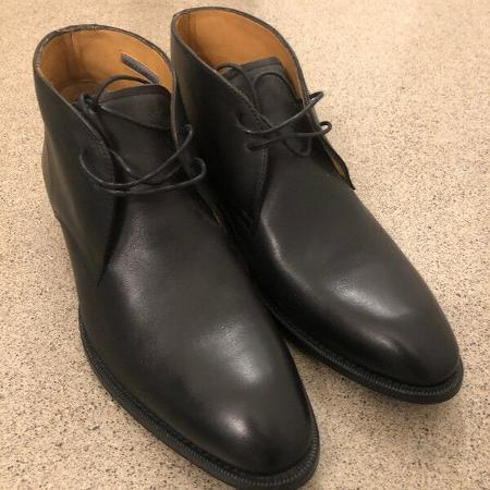 f26cbde3ec BRAND NEW Black Leather Vince Camuto Chukka Boot (Men) size 9