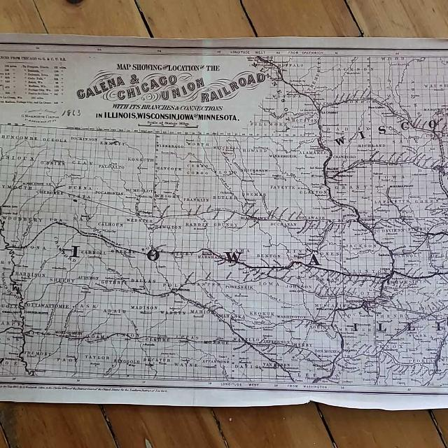 Best Replica Of Antique Railroad Map For Sale In Dekalb County