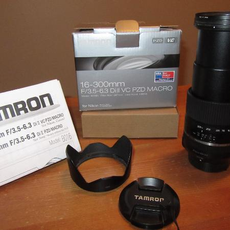 Tamron 16-300mm lens, Nikon mount, used for sale  Canada