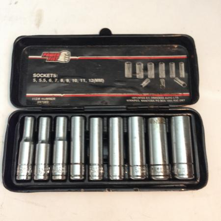 1/4 in. 9pc Metric Socket Set for sale  Canada