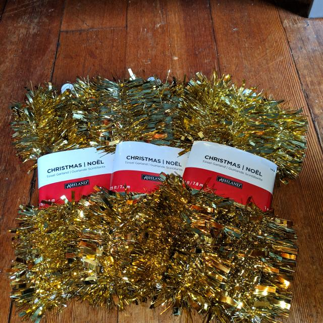 Christmas Tinsel Garland.Christmas Tinsel Garland