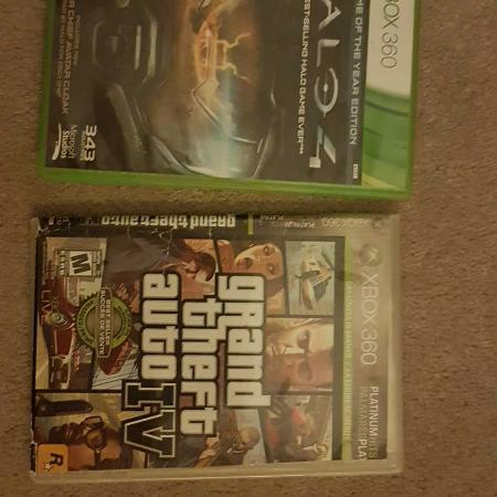 2 xbox 360 games. Halo 4 and gta 4 for sale  Canada