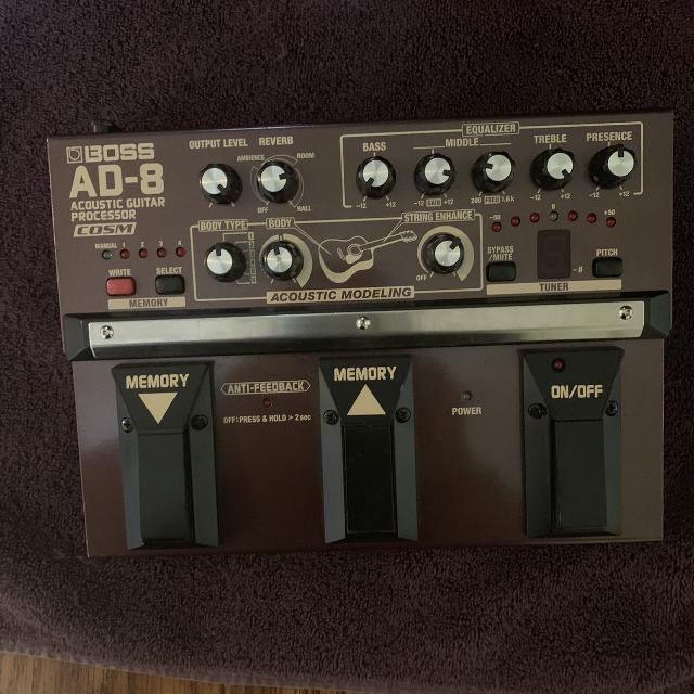 BOSS AD-8 Acoustic guitar processor selling for 190 firm