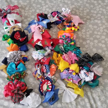e574cd36e7d Hair bow lot galore. Approx 75  First come!