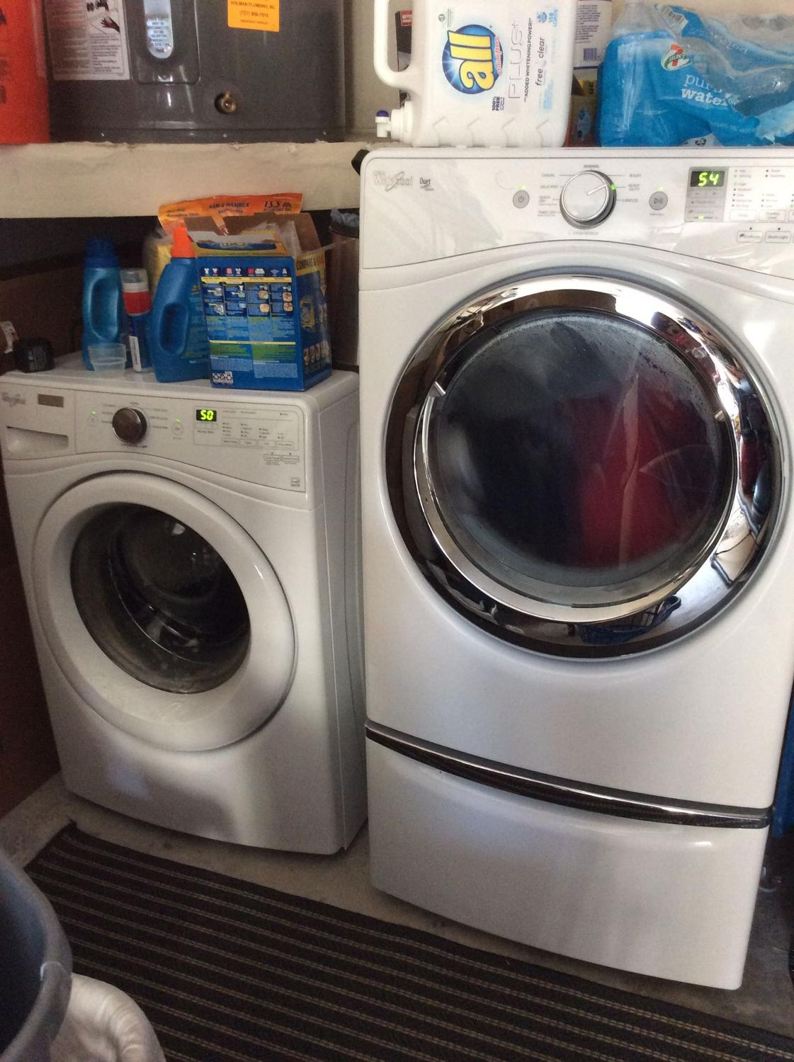 Best Whirlpool He Washer Dryer And Pedestal For Sale In