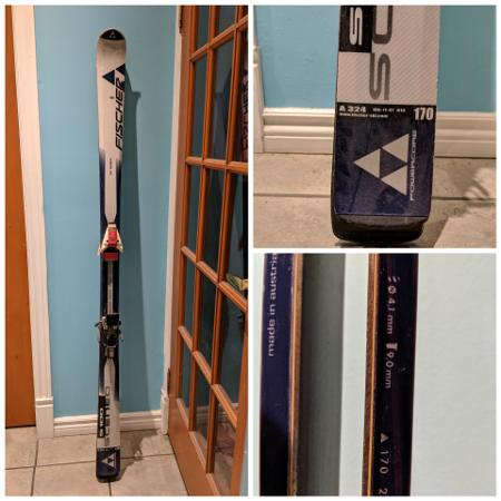 FISCHER S100 PARABOLIC SKIS 170CM, used for sale  Canada