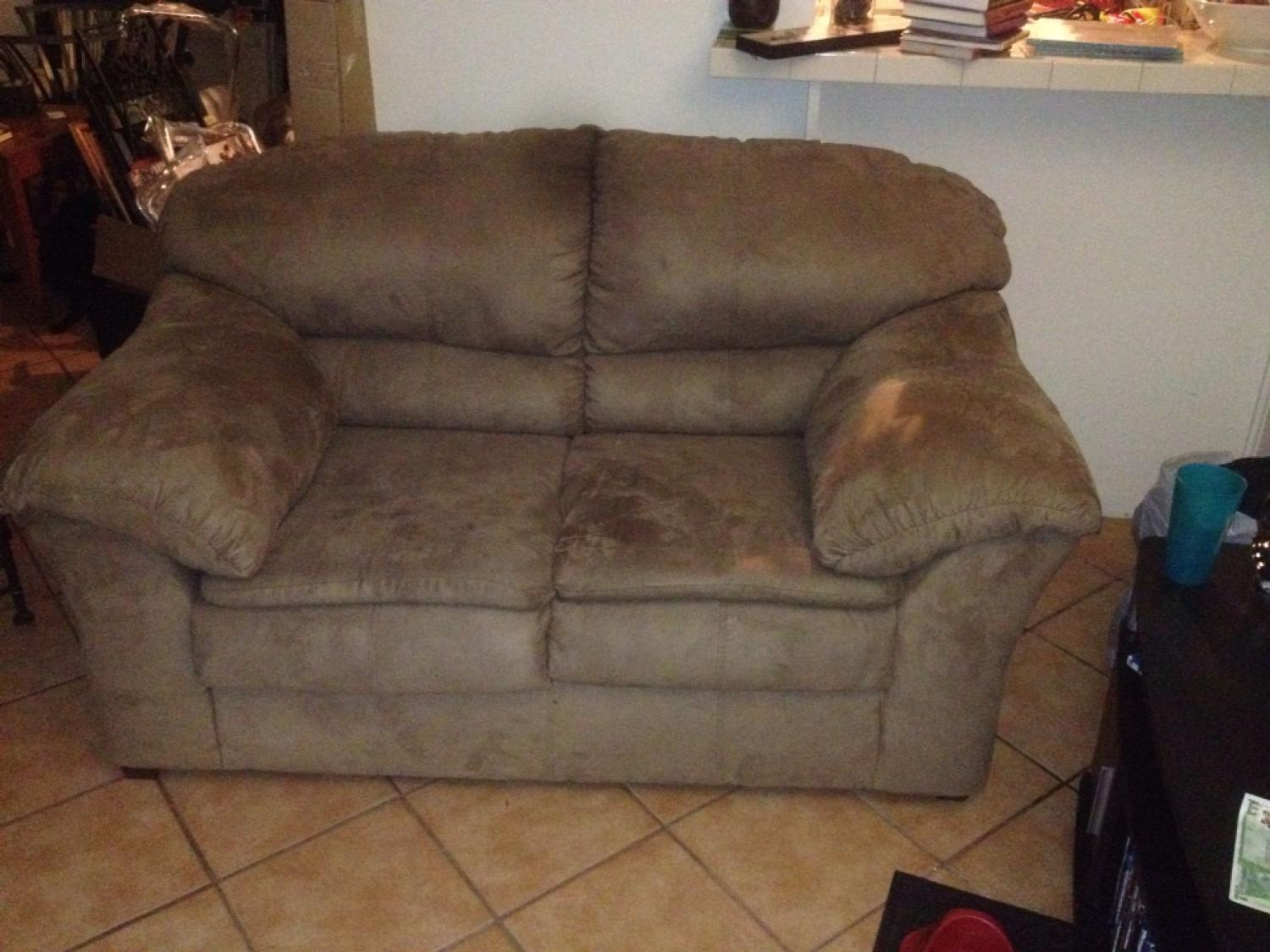 Best Loveseat Microsuede Couch For