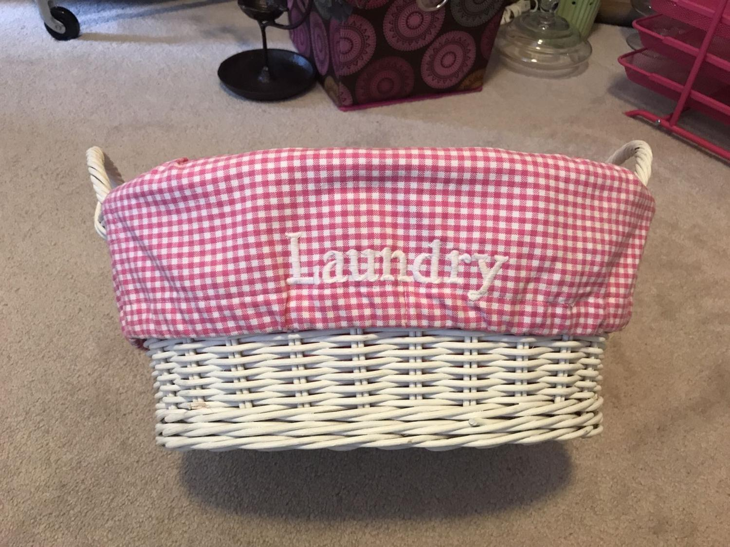 Best Pottery Barn Kids Laundry Basket For Sale In Maple
