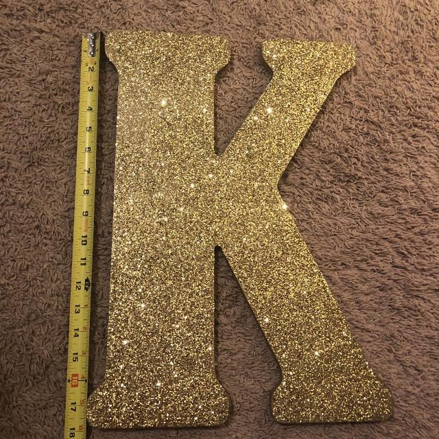Gold Letter K Wall Decor from pixl.varagesale.com