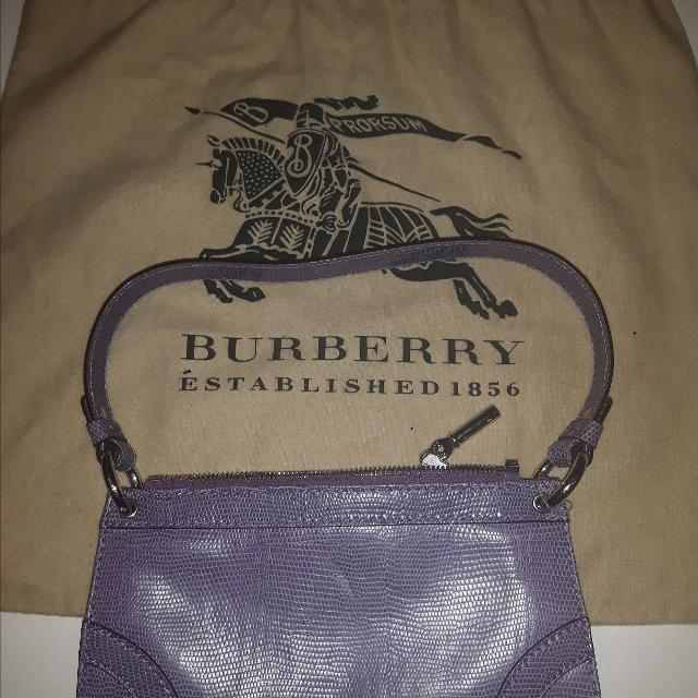db196c466fcef9 Best Burberry Lilac Leather Pochette Shoulder Purse In Excellent Condition!  for sale in Calgary, Alberta for 2019