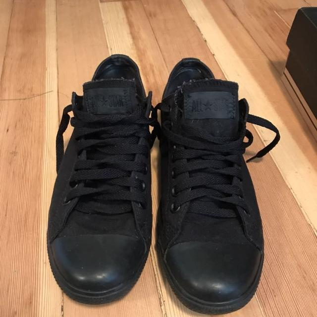 d5f11a98a649 Find more Converse All Black Slim Low Top Chuck Taylors for sale at ...