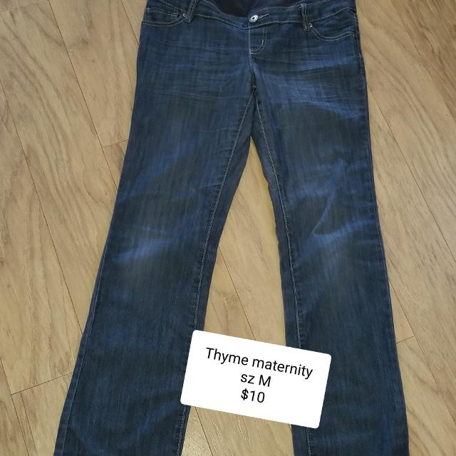 8bf4927f6af76 Find more Thyme Maternity Sz M Jeans for sale at up to 90% off ...