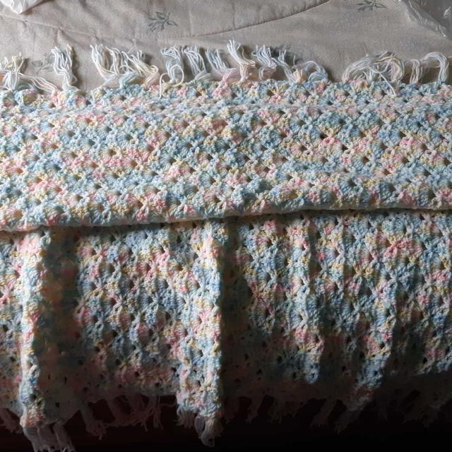 Best Beautiful Unisex Crochet Baby Blanket For Sale In Dollard Des