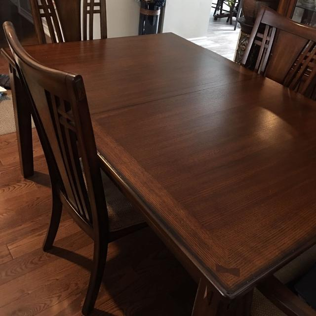 Kathy Ireland Dining Table, 6 Chairs & China Cabinet