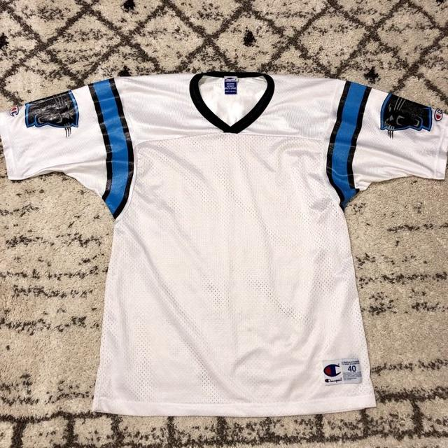 best website 5d7c7 93f37 Vintage 90s Champion Carolina Panthers Jersey Shirt. EUC