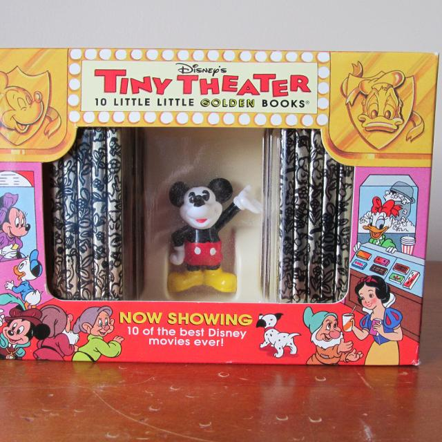 Collectible Disney's Tiny Theater 10 Little Golden Books
