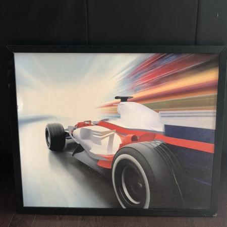 Race car framed portrait for sale  Canada