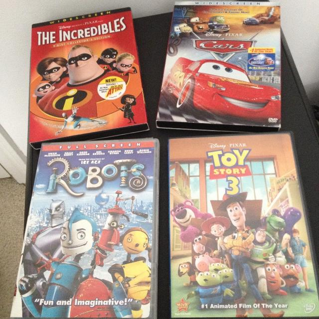 4 DVDs The Incredibles 2 Disc Collectors Edition Cars Robots And